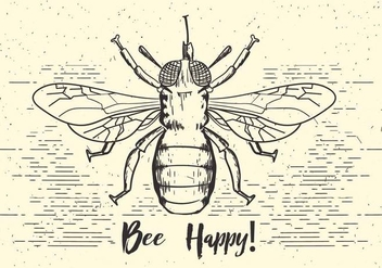 Free Vector Bee Illustration - Free vector #409519