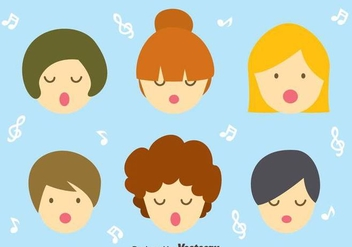 Children Choir Vector - vector gratuit #409569