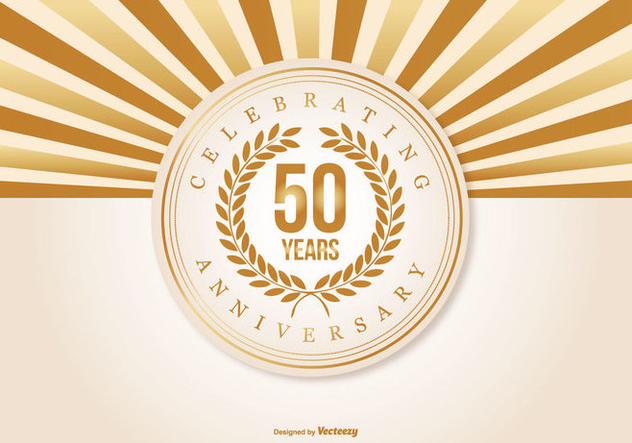 Beautiful 50 Year Anniversary Illustration - Kostenloses vector #409589