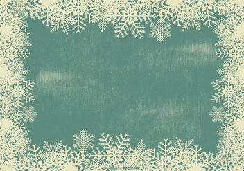 Grunge Snowflake Frame Background - vector gratuit #409599