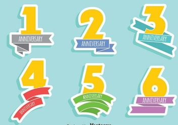 Anniversary Sign Vector Set - Kostenloses vector #409609