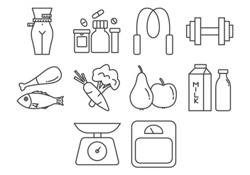 Free Fitness and Health Icon Vector - бесплатный vector #409799