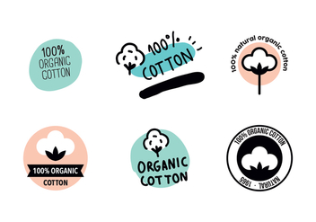 Organic Cotton Logos - vector gratuit #409809