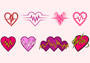Heart Rate Icon Free Vector - Kostenloses vector #409829