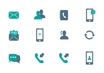 Free Communication Icon Vector - vector gratuit #409839