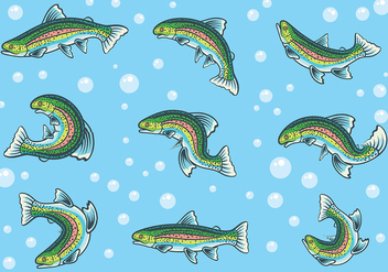 Free Rainbow Trout Icons Vector - бесплатный vector #409879