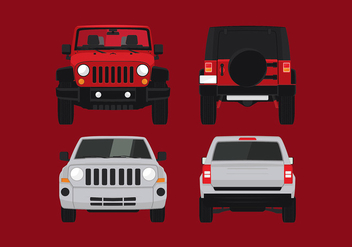 Jeep Front Free Vector - бесплатный vector #409959