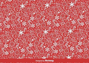 Red Christmas Vector Pattern - Free vector #409979