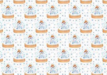 Pattern With Cute Polar Bear Free Vector - vector gratuit #409999