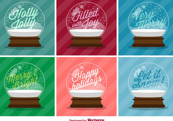 Typographic Christmas Vector Snow Balls - бесплатный vector #410009