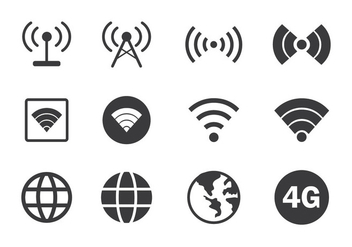 Internet Connection Icon - Free vector #410159