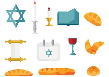 Free Shabbat Jewish Vector Illustration - бесплатный vector #410339