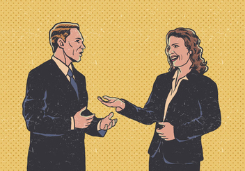 Vector Business Man And Woman Communicating - Kostenloses vector #410359