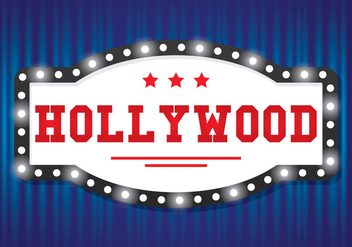 Hollywood Light Sign - Kostenloses vector #410379