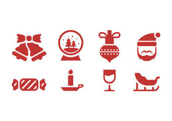Christmas and winter icons - vector #410429 gratis