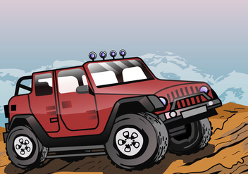 Adventure Jeep - Free vector #410469