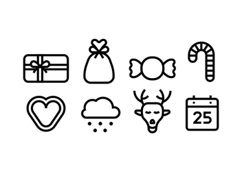 Christmas Line Icons - Free vector #410499