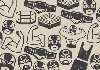 Wrestler Fighter Icon - vector #410549 gratis