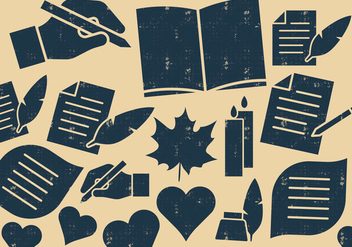 Writers And Poets Icons - Free vector #410559