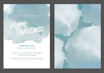 Vector Christmas Card - vector #410659 gratis