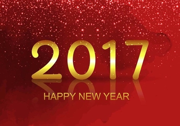 Free Vector New Year 2017 Background - vector gratuit #410719