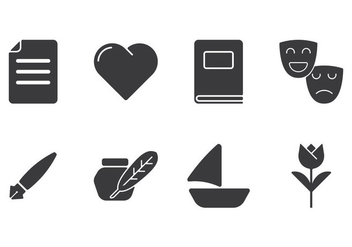 Creative Poem Icons - vector #410759 gratis
