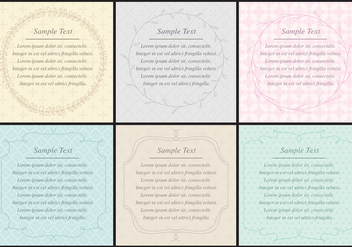 Poem Text Frames - бесплатный vector #410819