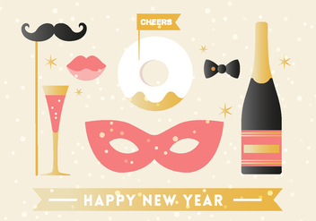 Free Happy New Year Background Elements - бесплатный vector #410869