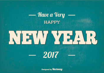Typographic Happy New Year Illustration - vector gratuit #410899