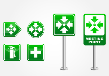 Meeting Point Sign - Free vector #410919