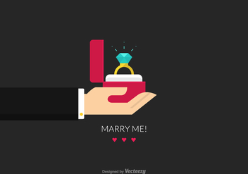 Free Proposal Marriage Vector Illustration - Free vector #410989