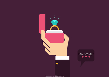 Free Vector Proposal Marriage Illustration - Kostenloses vector #410999