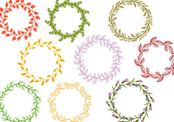 Free Floral Wreaths Vectors - Free vector #411019