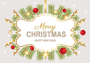 Free Merry Christmas Background Vector - vector gratuit #411079