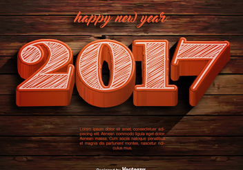 Vector Happy New Year 2017 Template - Free vector #411219