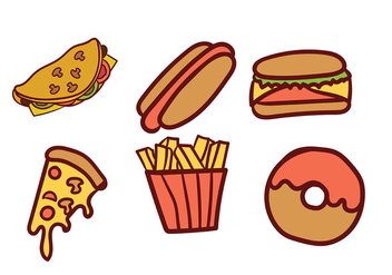 Food Vector Pack - vector #411229 gratis