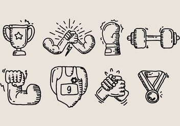 Arm Wrestling Icon - Free vector #411239