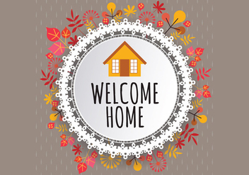 Welcome Home Fall Sign Vector - Free vector #411249