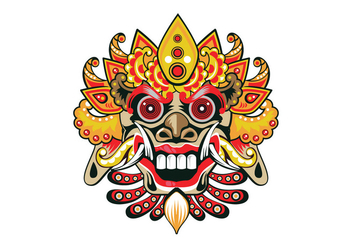 Decorative Barong Vector - vector #411259 gratis