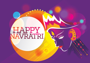 Maa Durga Retro Background for Hindu Festival Shubh Navratri - бесплатный vector #411269