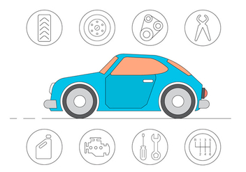 Free Car Service Icons - vector #411449 gratis