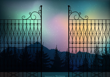 Free Northern Night Vector Background - Free vector #411499