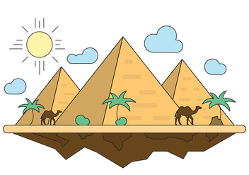 Free Illustration With Pyramids - бесплатный vector #411519