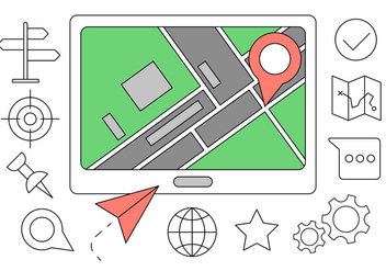 Free Navigation Icons - vector #411539 gratis