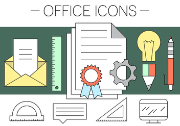 Free Office Icons - vector #411559 gratis