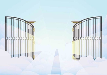 Free Open Gate Illustration - бесплатный vector #411609