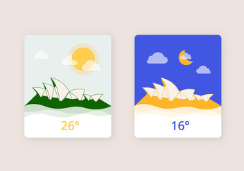 Day & Night Weather Illustration - бесплатный vector #411649