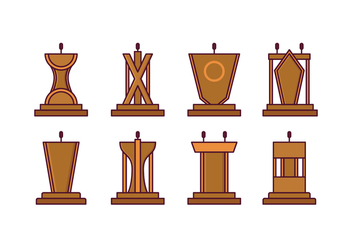 Free Lectern Vector Pack - Kostenloses vector #411669