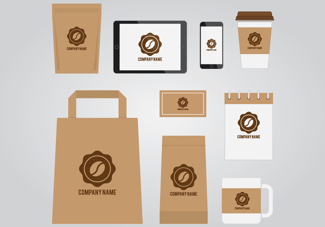 Coffee Branding Template - Free vector #411709