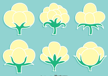 Cotton Flowers Vevtor Set - бесплатный vector #411779